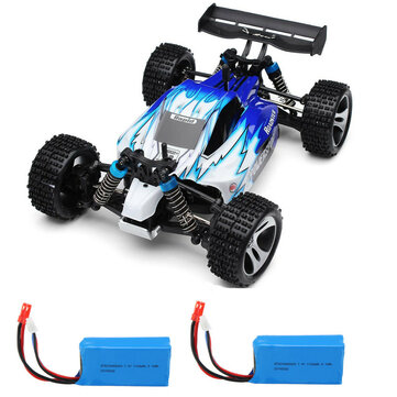 Wltoys A959 Rc Car with 2 Batteries Version 1/18 2.4G 4WD 50km/h Off Road Truck RTR Toy