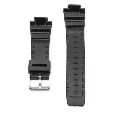 Bracelet en caoutchouc de silicone noir de rechange de 25mm Bande + outil pour le choc de CASIO G