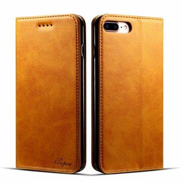 Bakeey Magnetisk Flip Wallet Card Slot Veske til iPhone 8 Plus/7 Plus