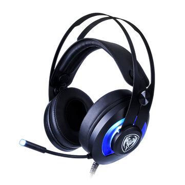 SOMiC G200 7.1 Sonido envolvente Auriculares con cable para juegos con cable USB con micrófono de reducción de ruido