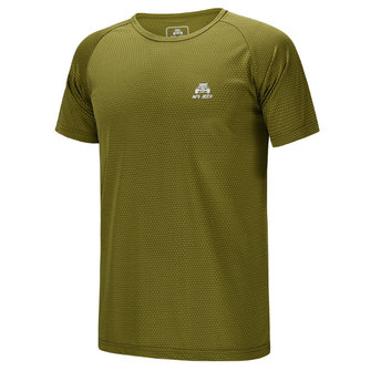 Plus आकार पुरुषों आउटडोर खेल शीर्ष सुखाने चलाना लघु आस्तीन टी शर्ट चल रहा है