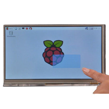 Raspberry Pi 7 inch HDMI HD 1024 * 600 Touch Screen Module Kit With Housing Bracket
