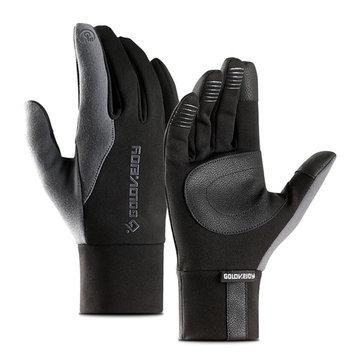 Winter Warm Full Finger Vandtæt Touch Screen Cykling Racing Motorcykel Handsker