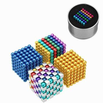 216PCS 5mm Cube Buck Ball Mixcolour giocattoli magnetici al neodimio N35 magnete