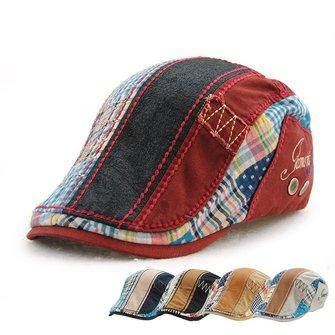 Men Women Cotton Washed Beret Hat Buckle Adjustable Paper Boy Newsboy Cabbie Golf Gentleman Cap