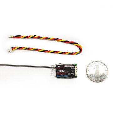 Radiolink R8SM 2.4GHz 8CH Mini RC Receiver SBUS/PPM Output Compatible T8S/T8FB/RC6GS/RC4GS Transmitter for RC Drone