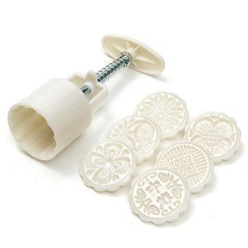 Creativa 6 estilos pasta de azúcar del molde pasteles pastel de luna sugarcraft de bicarbonato de herramienta de corte decoración