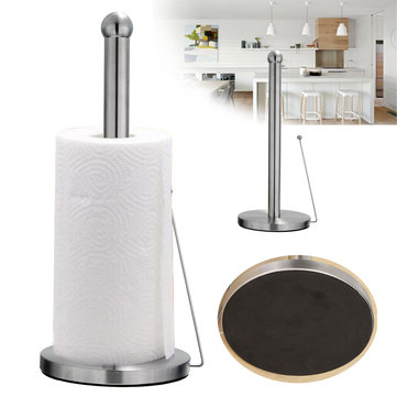 Free Standing Paper Towel Holder Hook Stainless Steel Kitchen Roll Suction Base Sale Banggood Com