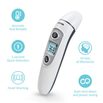 New Infrared Thermometer Temperature Sensor IR Digital LCD Forehead Ear Non-Contact Adults Baby Body Care Thermometer Fever Measurement