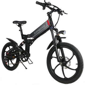 Samebike XW-20RW Deluxe Edition 350W Smart Bicycle Folding 7 Speed 48V 10.4AH Electric Bike 35km/h Max Speed EU Plug E-bike