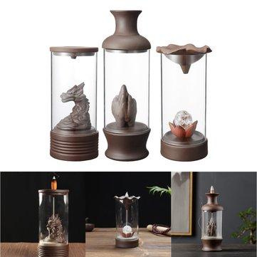 3 Pattern Backflow Incense Burner Ceramic Retro Censer Holder Home Decorations