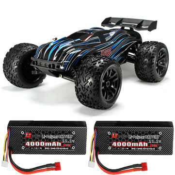 JLB Racing CHEETAH w or 2 Batteries 120A Upgraded 1 or 10 2.4G 4WD 80km or h Brushless RC Car Truggy 21101 RTR Model