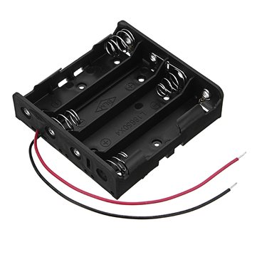 New Version DC 14.8V 4 Slot 4 Series 18650 Battery Holder High Quality Battery Box Battery Case With 2 Leads And Spring CE RoHS Certification