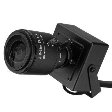 720P 1.0MP Mini IP Camera ONVIF 2.8-12mm Manual Varifocal Zoom Lens P2P with Bracket Network Camera