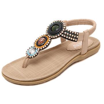 US Size 5-11 Women Bohemian Casual Beach Flat Sandals