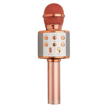 WS858L Wireless bluetooth Karaoke KTV Audio Live Microphone Speaker Stereo Singing Player