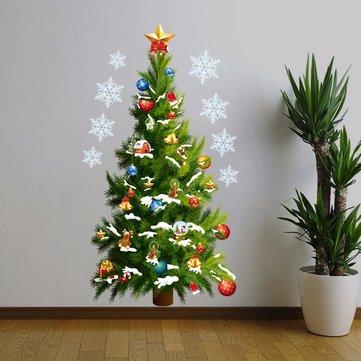 Pohon Natal Removable Diy Dekorasi Dinding Jendela Stiker Rumah