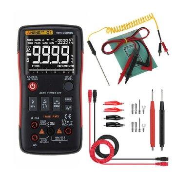ANENG Q1 9999 Counts True RMS Digital Multimeter AC DC Voltage Current Resistance Capacitance Temperature Tester Auto/Manual Raging Analog Bar Graph