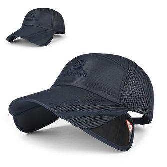 यूनिसेक्स पुरुष महिला पॉलिएस्टर मेष वाइड ब्रिम बेसबॉल कैप एडजस्टेबल सांस आउटडोर टोपी