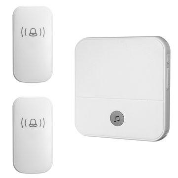 300M Waterproof LED Wireless Doorbell 52 Songs Chime Door Bell SOS EU/US/UK Plug 2Pcs Receiver + 1Pce Doorbell