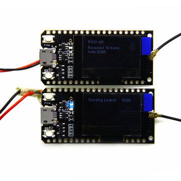 2 Pcs LILYGO TTGO LORA32 868 MHz ESP32 LoRa OLED 0.96 Inch Layar Biru bluetooth WIFI ESP-32 Papan Pengembangan Modul Dengan Antena