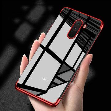 Bakeey ™ Renk Kaplama Şeffaf Soft TPU Arka Kapak Koruyucu Kılıf için Xiaomi Pocophone F1