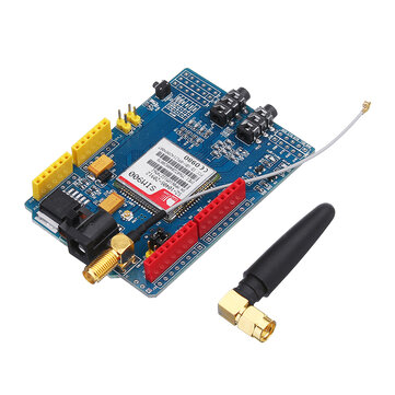 SIM900 Quad Band GSM GPRS Shield Development Board Geekcreit for Arduino - products that work with official Arduino boards