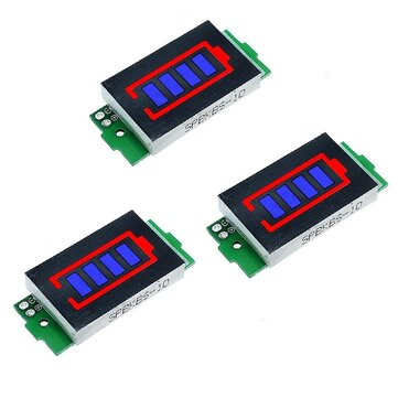 Buy 3Pcs 1S 8S Single 3 7V Lithium Battery Capacity Indicator Module 4 2V Blue Display Electric Vehicle Battery Power Tester Li ion with 5 on Gipsybee.com