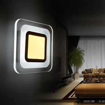 9W LED Modern Square Aisle Staircase Living Room Wall Light Indoor Bedside Lamp
