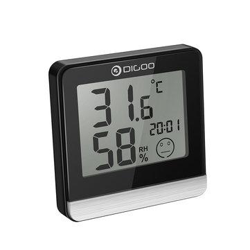 [2019 Third Digoo Carnival] Digoo DG-BC20 Cuarto de baño LCD Digital Termómetro con Time Comfort Level Pantalla IP45 Impermeable Humedad y temperatura Sensor Higrómetro Monitor