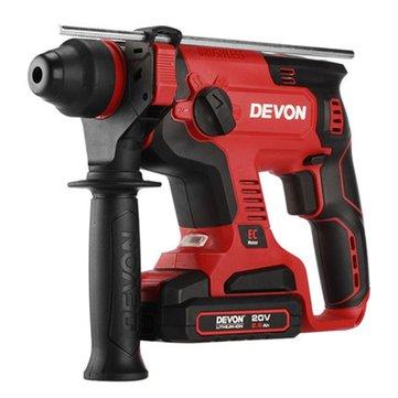 DEVON® 5401-Li-20RH 2.6Ah Dual Use Electric Charge Hammer Impact Drill with Light