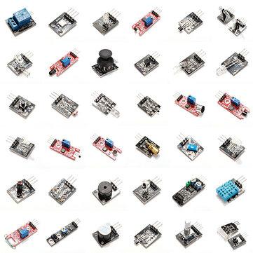Geekcreit 37 In 1 เซนเซอร์ โมดูลชุดบอร์ดชุดเริ่มต้น Geekcreit - ผลิตภัณฑ์ที่ทำงานร่วมกับบอร์ด Arduino อย่างเป็นท