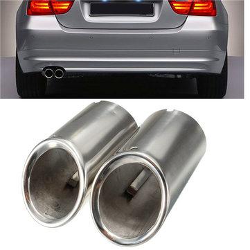 2Pcs Muffler Exhaust Tailpipe Tip Chrome for BMW E90 E92 325 3 Series 06-10