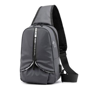 Xmund XD-DY10 5.7L USB Anti Theft Chest Bag Oxford Cloth Shoulder Bag Camping Travel Hiking Crossbody Bag