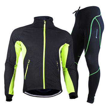 Buy NUCKILY Mens Cycling Clothing Thermal Fleece Bike Jacket Set Waterproof Windproof Warm Sport Shirt Coat Cycling Tights Set with 7 on Gipsybee.com