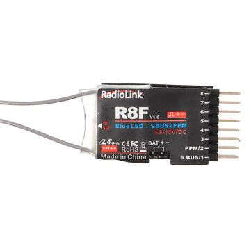 Radiolink R8F 2.4G 8CH Dual Antenna Receiver with Two Way Transmission for RC Car Boat Models