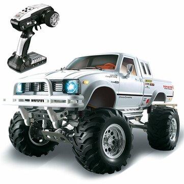 HG P407 1/10 2.4G 4WD Rally Rc Bil för TOYATO Metal 4X4 Pickup Truck Rock Crawler RTR Toy