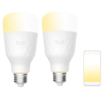 2PCS Yeelight YLDP05YL E27 10W Warm White to Daywhite WiFi Smart LED Bulb AC100-240V(Xiaomi Ecosystem Product)