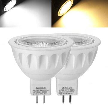 1X 5X 10X ARILUX® MR16 6.5W SMD2835 480LM LED Spot Lightt Lamp Bulb Non-Dimmable AC/DC12V