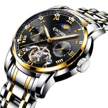 KINYUED JYD-J028 All Steel Band Mekanis Otomatis Watch Business Style Men Jam Tangan