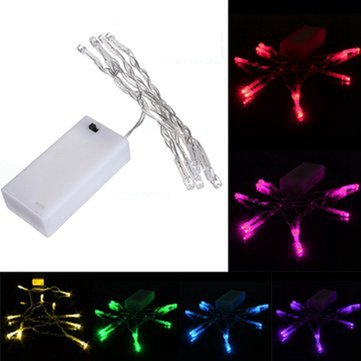 1M 10 LED Battery Powered Christmas Wedding Party String Fairy Light