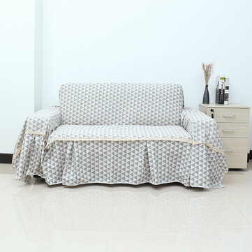 1/2/3 Seater Sofa Chair Covers Cotton linen Furniture Protector Couch Towel Skirt Thick Fabric Universal Sofa towel Cover