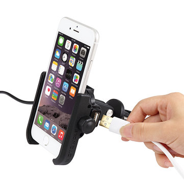 BIKIGHT Rechargeable Universal Bike Bicycle Phone Holder For Xiaomi Mi 8 iPhone X/ 8 Samsung LG HTC Huawei GPS Electiric Cars Motorcycles Scooters Handlebar Clip Stand