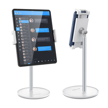 BlitzWolf® BW_HT1 360 Rotation Angle Height Adjustable Aluminum Alloy Phone Holder Desktop Stand for 4_12.9 Inch Phones Tablets