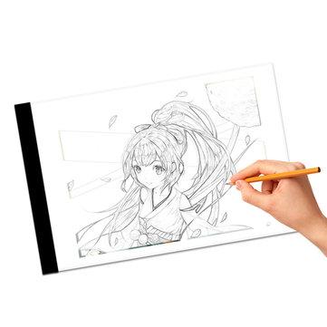 Mrosaa A4 LED Artista fino arte estêncil placa de desenho luz Caixa Pad Table
