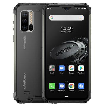 Ulefone装甲7E IP68 IP69K防水6.3英寸4GB 128GB 48MP三摄像头NFC 5500mAh Helio P90 Octa Core 4G智能手机