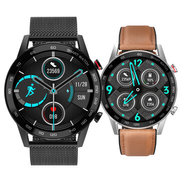 [bluetooth Call]DT NO.1 DT95 Full round Touch Screen ECG+PPG Heart Rate Blood Pressure Oxygen Monitor Music Playback Multiple Dials IP68 Smart Watch Coupon Code and price! - $37.51