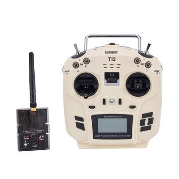 Jumper T12 OpenTX 16CH Radio Transmitter with JP4-in-1 Multi-protocol RF Module for Frsky JR Flysky