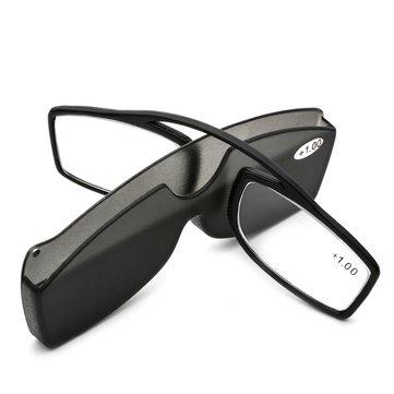 केस के साथ केसीएएसए नई नाक क्लिप रीडिंग चश्मा टीआर 90 मिनी पोर्टेबल प्रेस्बिओपिक चश्मे