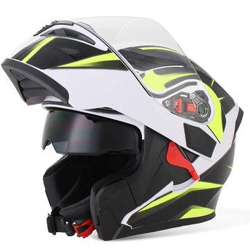 Motorcycle Dual Lens Full Face Helmet Motocross Racing Safety MOTOWOLF 902